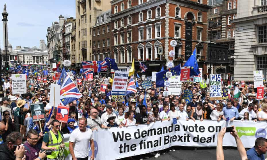 The 'People's March Against Brexit' in London, June 2018.