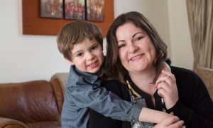 Nikki Murphy and her son Reuben.