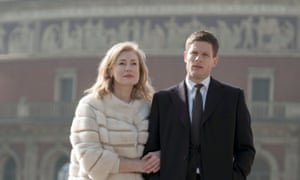 Maria Shukshina as Oksana Godman and James Norton as Alex Godman in McMafia