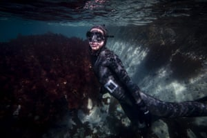 This is Ercümen's first experience diving in Antarctica
