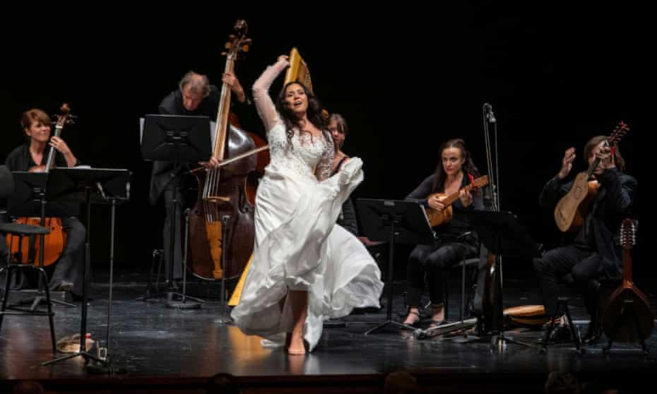 Striking ... Sonya Yoncheva and the Cappella Mediterranea.