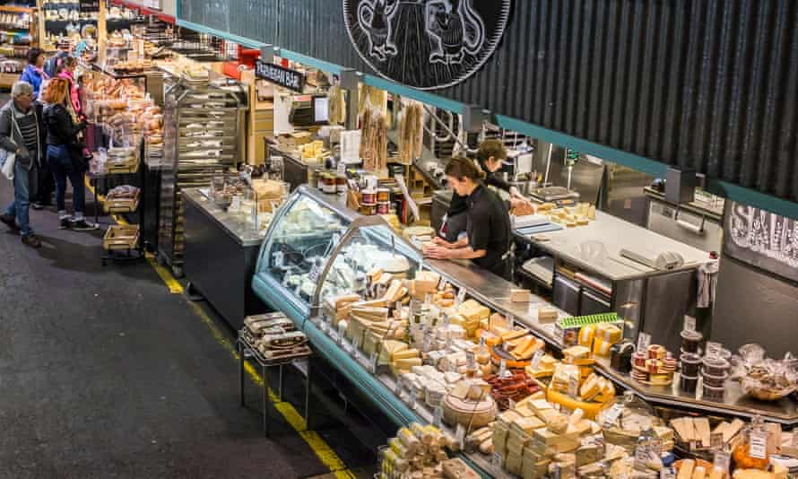 A cheese shop in the Adelaide central market.