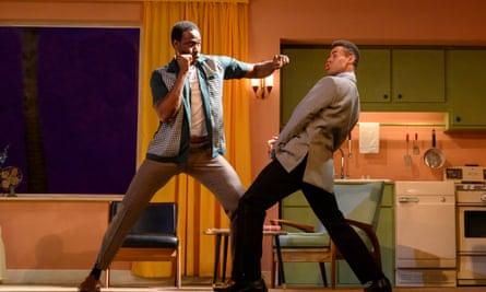 Miles Yekinni as Jim Brown and Conor Glean as Muhammad Ali.