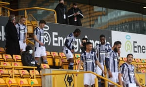 The Baggies take to the pitch.