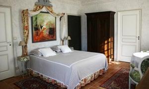 Bedroom at Les Hautes Claires, Dordogne, France