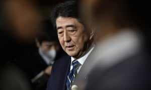 Japanese prime minister Shinzo Abe. Campaigners accuse Japan of resisting the global trend towards the abolition of the death penalty.