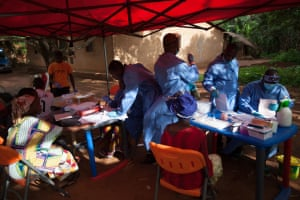 Team nine of the WHO Ebola vaccine trial in Guinea