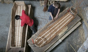 Willow coffins are among the options for a greener burial.