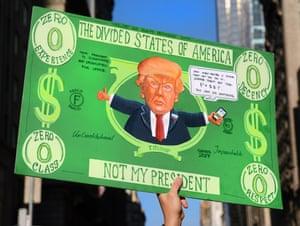 A Donald Trump poster