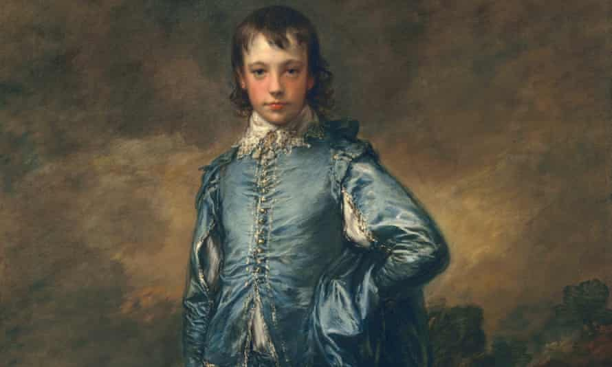 A detail from The Blue Boy by Thomas Gainsborough  (c1770).