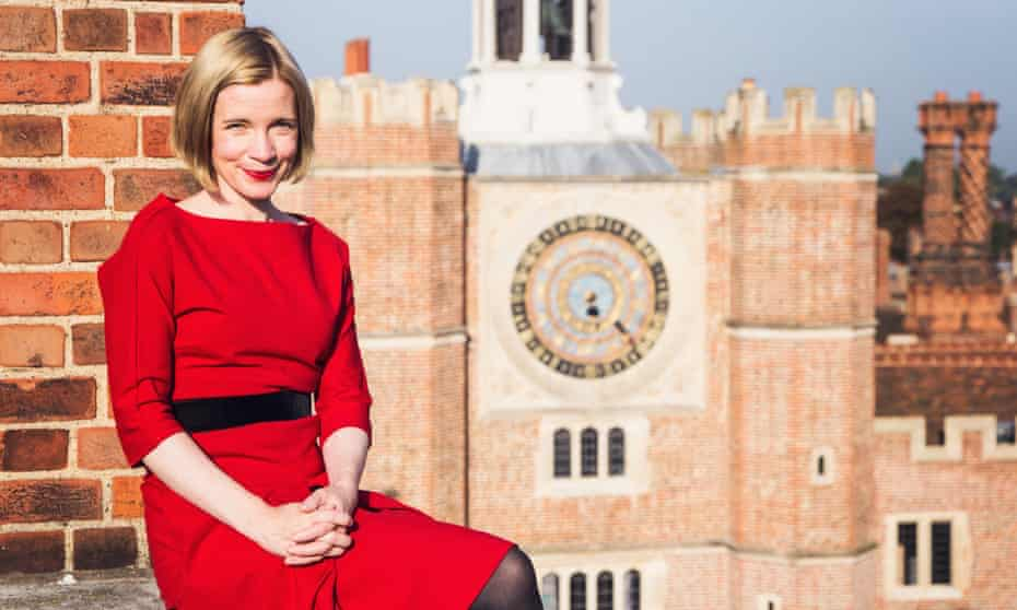 Lucy Worsley, the TV historian and chief curator of the Historic Royal Palaces, at Hampton Court.