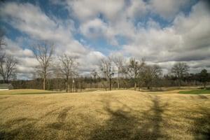 A golf course sits on the original location of the Hamburg neighborhood.