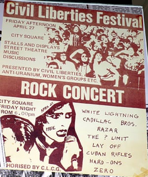 Zero rock concert festival '79. Poster.
