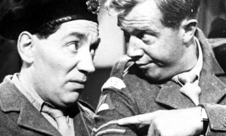 Michael Medwin as Springer, right, with Alfie Bass as 'Bootsie' Bisley in The Army Game.