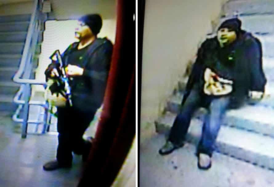 CCTV captures of the suspected attacker at the Resorts World Manila hotel and casino complex.
