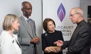Eric Eugène Murangwa at a Holocaust Memorial Day commemorative event in London in January 2017.