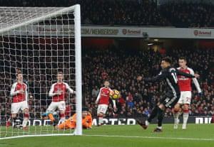 Lingard scores United's third.