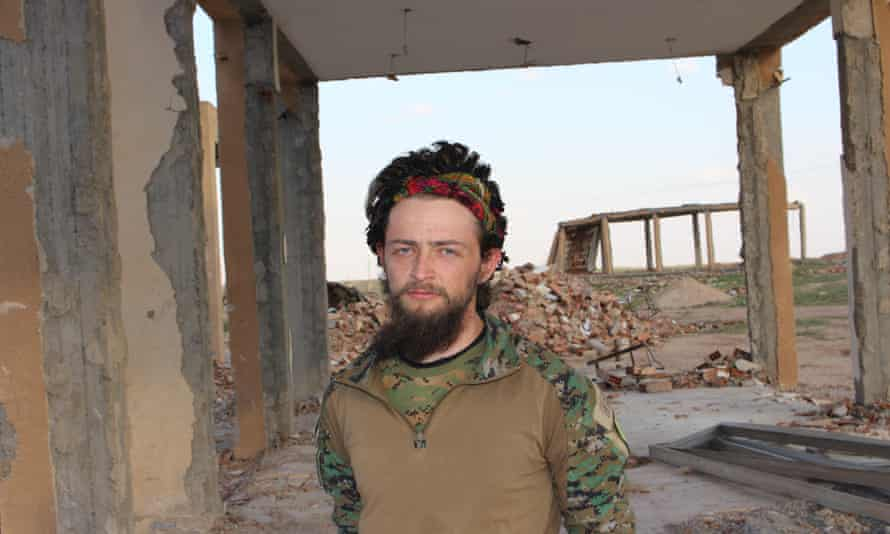 Jac Holmes, 24, left his IT job in Bournemouth to join the Kurdish People's Protection Units in Syria in 2015.