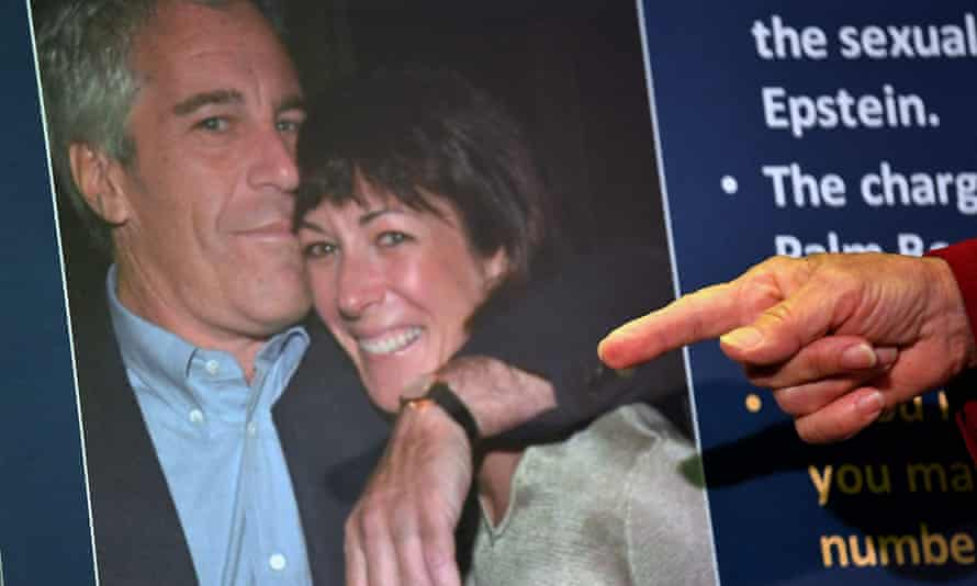 Prosecutors announce charges against Ghislaine Maxwell during a press conference in New York City last year.