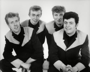 Chas (back right) with his band the Outlaws in 1964