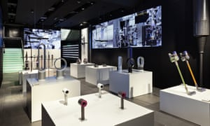 The Dyson Demo shop in Oxford Street