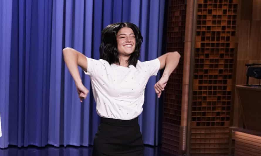 Charli D'Amelio on the Tonight Show.