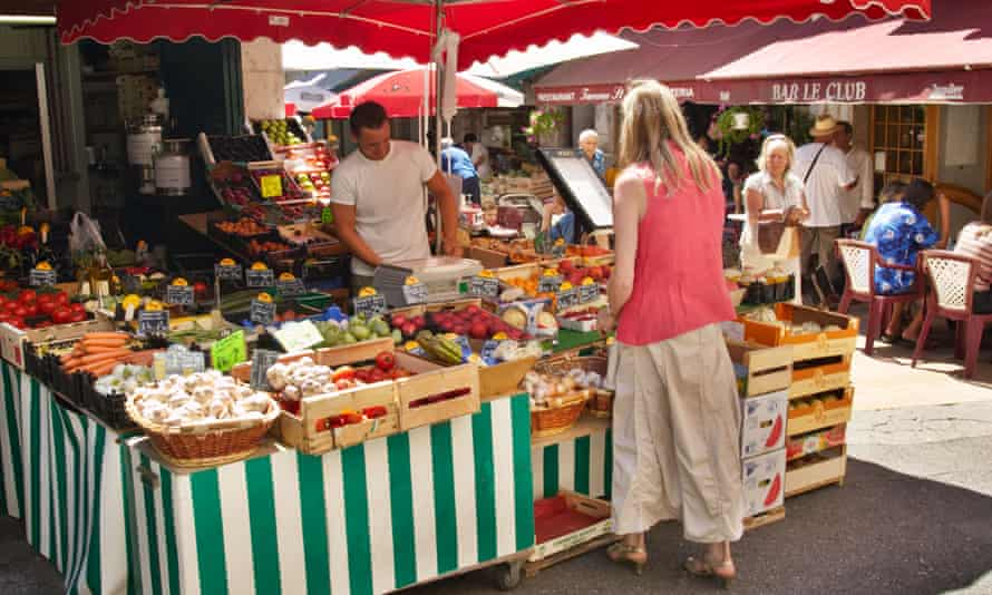 A market stall in Vence, Cote d'Azur, France