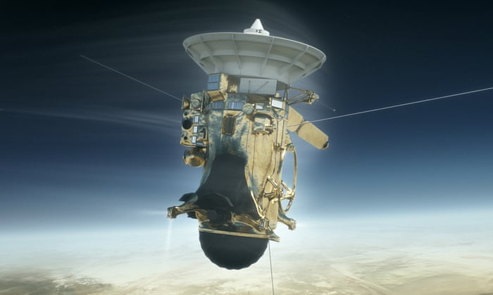 Cassini prepares to plunge on its self-destruct mission into Saturn's atmosphere.