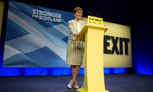 Nicola Sturgeon at the SNP general election manifesto launch in Glasgow.