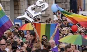 The Republic of Ireland voted to legalise same-sex marriage in 2015, prompting street celebrations in Dublin.