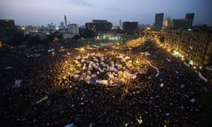 A mass rally against a decree by President Mohamed Morsi granting himself broad powers in November 2012 in Cairo's Tahir Square.