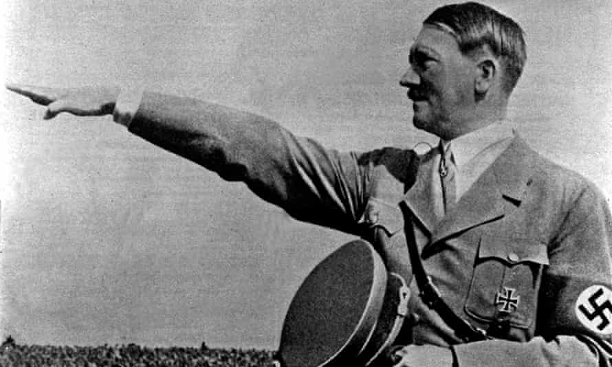 Archive footage of Adolf Hitler.