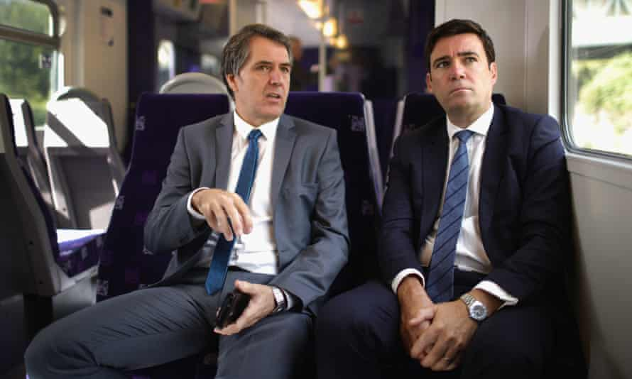 Labour's candidate for Liverpool City Region, Steve Rotheram, with the party's Manchester candidate Andy Burnham.