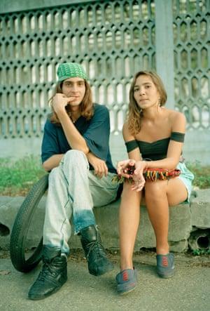 Couple With Tire, Havana, Cuba 1993