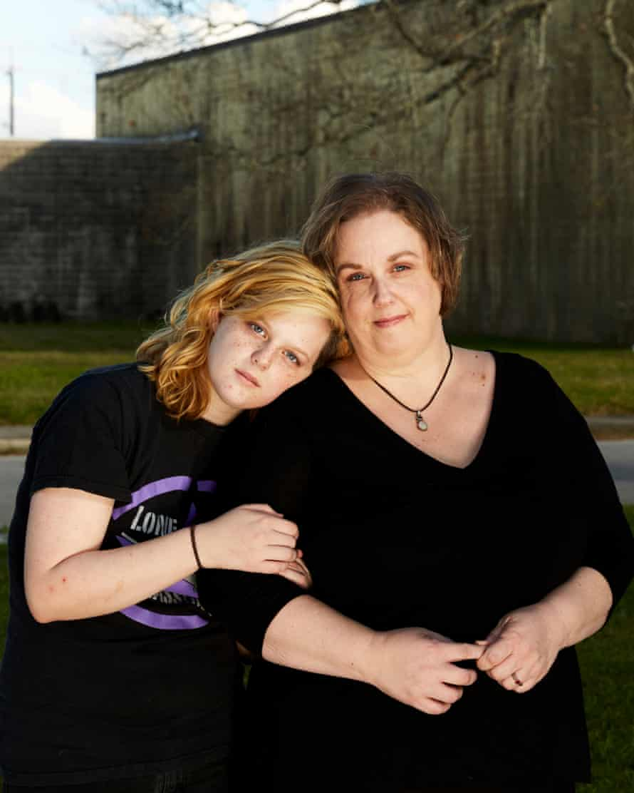 Victoria Elder and her daughter Morgane.