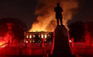 Fire engulfs the 200-year old Museu Nacional in Rio de Janeiro, Brazil