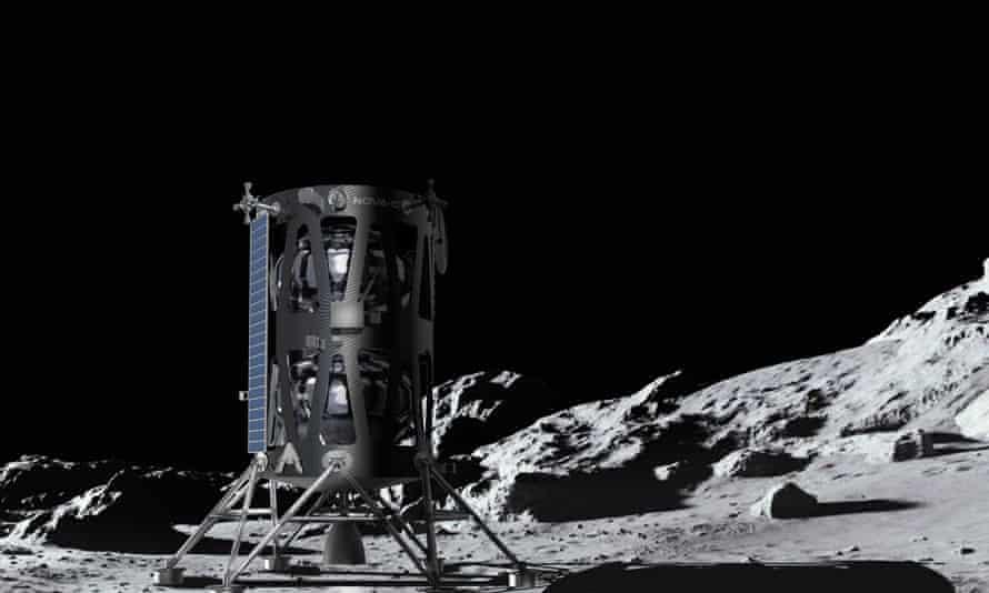 Artist's impression of Nova-C on the moon