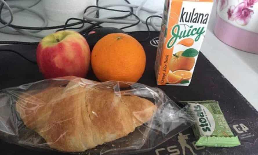 Food delivered to students in Pollock halls in Edinburgh.