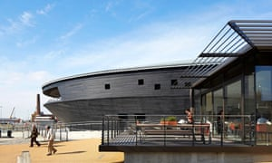 The Mary Rose Museum, Portsmouth, United Kingdom. Architect: Wilkinson Eyre Architects, 2013. Museum and cafe and shop annex.E6D203 The Mary Rose Museum, Portsmouth, United Kingdom. Architect: Wilkinson Eyre Architects, 2013. Museum and cafe and shop annex.