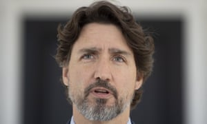 Justin TrudeauCanadian Prime Minister Justin Trudeau is seen during his daily news conference outside Rideau Cottage in Ottawa, Ontario, Thursday May 14, 2020. (Adrian Wyld/The Canadian Press via AP)