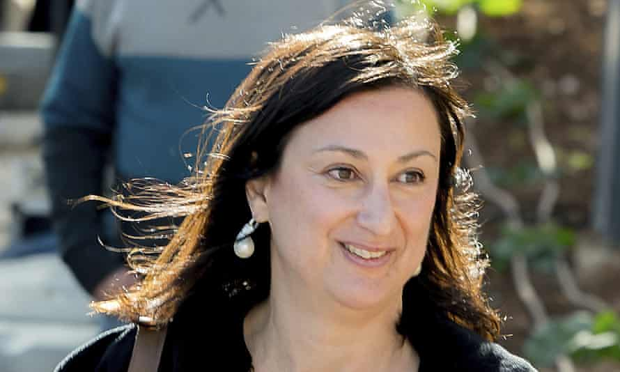 Maltese investigative journalist Daphne Caruana Galizia, who was killed by a car bomb in Malta on 16 October 2017