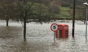 Flooding in the village of Aberfeldy, Perthshire, Scotland, 2015. Critical infrastructure, such as water and telecoms, are at serious risk from floods.