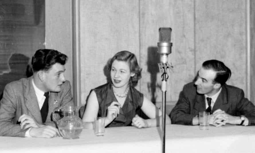 Helene Aldwinckle on the British Forces Network's Beat the Panel quiz show, 1954
