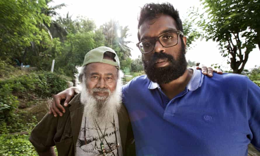 Romesh Ranganathan and Anslem De Silva searching for crocodiles in BBC3's Asian Provocateur.
