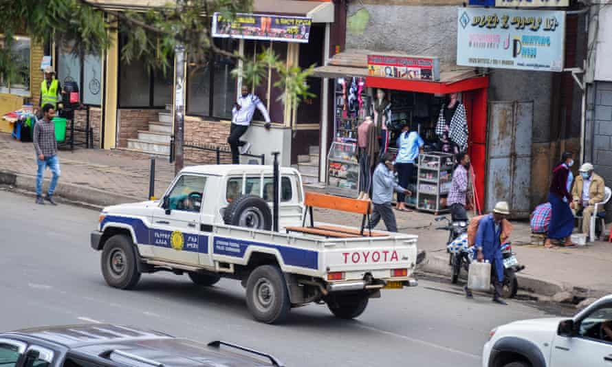 Police patrol in Addis Ababa
