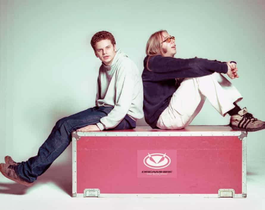 Ed Simons and Tom Rowlands of English electronic music duo The Chemical Brothers