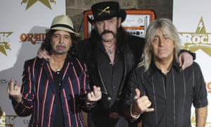 Phil Campbell, Lemmy Kilmister and Mikkey Dee, of Mötorhead, seen in London in 2012.