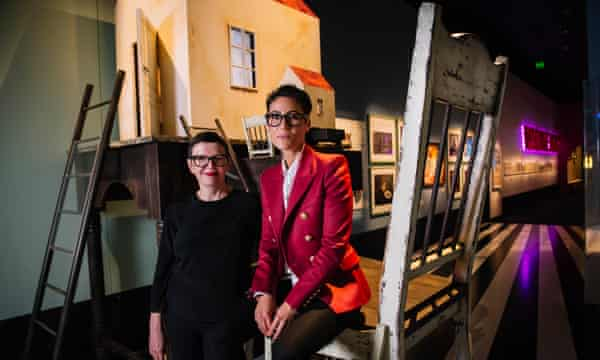 Acmi's CEO and director, Katrina Sedgwick, and its curator, Jessica Bram, at the Wonderland exhibition in Melbourne