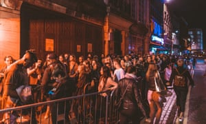 Clubbers queue for Fabric, Farringdon, London, regularly voted one of the best clubs in the world.