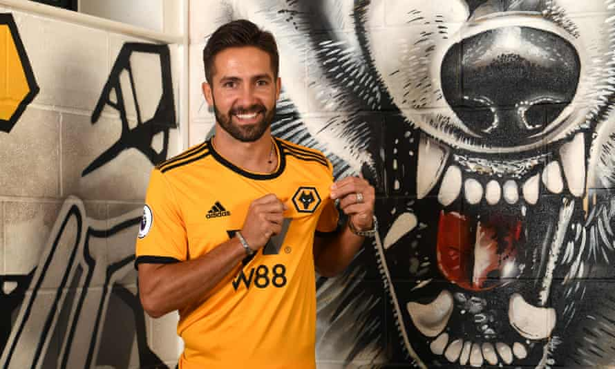 João Moutinho is unveiled at Wolverhampton Wanderers' training ground after completing his £5m move.